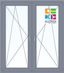 Алюминиевое окно Alutech 1400*1600 ПО+ПО