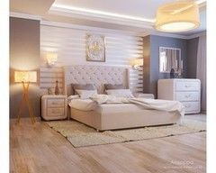 Кровать Кровать УЮТ Андорра 180x200 (Velvet Lux 45)