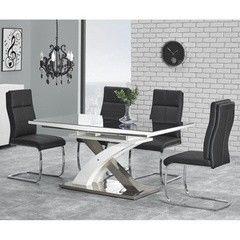 Обеденный стол Обеденный стол Halmar Sandor 2 черный