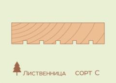 Террасная доска Лиственница 27*142, сорт С