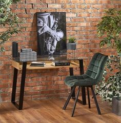Письменный стол Halmar B36 (дуб золотой/черный)
