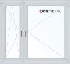 Окно ПВХ Окно ПВХ Dexen 1460*1400 1К-СП, 4К-П, П/О+П