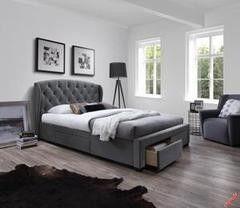 Кровать Кровать Halmar Sabrina (серый)
