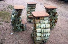 Габион GabionCity Барная мебель из габионов 4