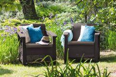Комплект мебели из ротанга Keter Corfu Duo set коричневый