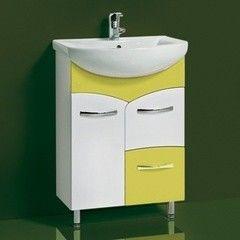 Зеленая мебель для ванной Акваль Тумба под умывальник Виктория 60 оливковый