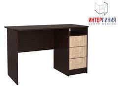 Письменный стол Интерлиния СК-001 Дуб венге+Дуб серый