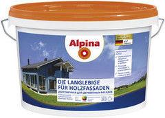 Краска Краска Alpina Долговечная для деревянных фасадов База 1 (10 л)