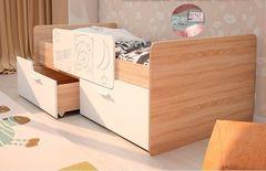 Детская кровать Детская кровать Интерьер-Центр Умка К-001 (дуб сонома/белый глянец)