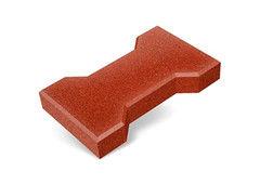 """Резиновая плитка Rubtex Брусчатка """"Катушка"""" 220x130 (толщина 20 мм, красная)"""