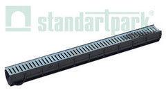 Ливневая канализация Standartpark Лоток водоотводный Spark ЛВ–7.9.9-ПП  с решеткой штампованной (комплект) 088011