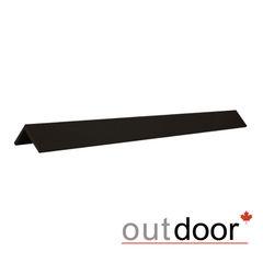 Декинг Декинг Outdoor Угол завершающий ДПК шлифованный черный 50x50x3000