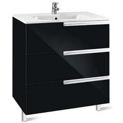 Мебель для ванной комнаты Roca Тумба Victoria Nord Black Edition 80 см (ZRU9302833) черная