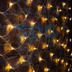 Декоративная светотехника Гирлянда NEON-NIGHT Сеть 2х1.5 м, прозрачный ПВХ, 288 LED тепло-белые 215-046