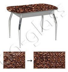 Обеденный стол Обеденный стол AA-Glass Стол «Бочка» 110(150)х70 (опора труба изогнутая с обвязкой)