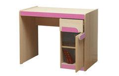 Детский стол Олмеко Лайф-3 (дуб линдберг/розовый)