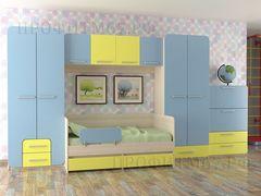 Детская комната Детская комната Профит-М Мечта (жёлто-голубой матрикс)