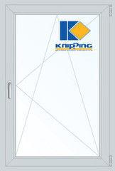 Окно ПВХ Окно ПВХ Knipping 900*1400 2К-СП, 6К-П, П/О