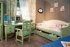 Детская комната Детская комната Домашняя мебель Лагос (с кроватью-диваном с двумя ящиками)