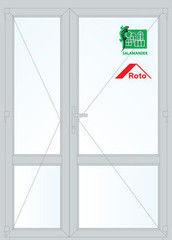 Дверь ПВХ Дверь ПВХ Salamander STL 1500*2100 двустворчатая Модель 30