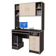 Письменный стол Смолвилль Молочный/венге (185x120x60)