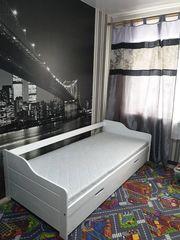 Детская кровать Грандвуд Односпальная кровать Бонни с дополнительным выкатным спальным местом