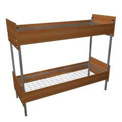 Двухъярусная кровать Европротект 2ДКП-1 металлическая со спинками из ДСП (90x190см)
