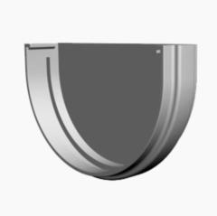 Водосточная система Docke Standard Заглушка желоба (пломбир)