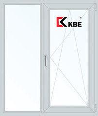 Окно ПВХ Окно ПВХ KBE 1140*1410 2К-СП, 5К-П, Г+П/О