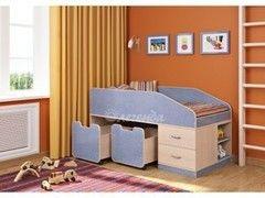Детская кровать Детская кровать Легенда 8 (венге светлый+лен голубой)