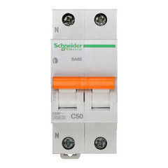 Schneider Electric Автоматический выключатель Домовой ВА63 1П+Н 50A C 4,5 кА 11218