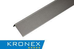Декинг Декинг Kronex Угол завершающий алюминиевый 51.5x30x3000 мм браш серебро
