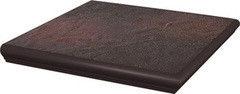 Клинкерная плитка Клинкерная плитка Ceramika Paradyz Semir Rosa ступень с капиносом угловая 33x33