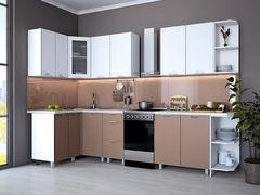 Кухня Кухня Интерлиния Мила Арт-1 Шоколад-Шоколад Арт (1.4x2.1)