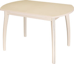 Обеденный стол Обеденный стол Домотека Румба ПО (бежевый/молочный дуб/07) 70x110(147)x75