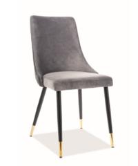 Кухонный стул Signal Piana Velvet Bluvel 14 (серый/черный мат)