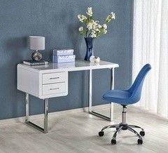 Письменный стол Halmar B-30 (белый/ хром)