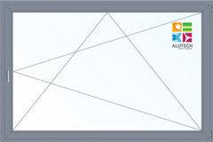 Алюминиевое окно Alutech 3000*2000 ПО