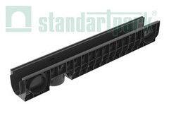 Ливневая канализация Standartpark Лоток водоотводный PolyMax Basic ЛВ-10.16.16-ПП пластиковый 8000