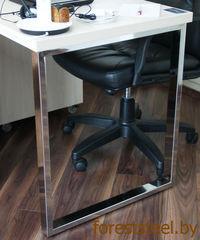 Письменный стол foreststeel.by На металлической опоре из нержавейки