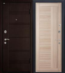 Входная дверь Входная дверь МеталЮр М17 (капучино мелинга, матовое стекло)