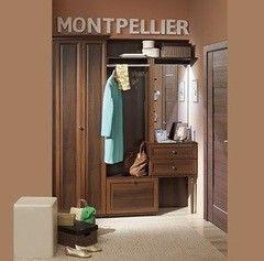 Прихожая Глазовская мебельная фабрика Montpellier 02 модульная (орех шоколадный)