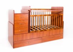 Детская кровать Кроватка Bambini трансформер (светлый орех)