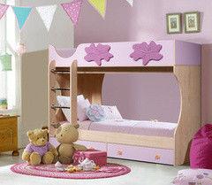 Двухъярусная кровать Артем-мебель СН-108.01 розовая