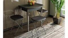 Обеденный стол Обеденный стол ТриЯ Лион (мини) с хромированными ножками