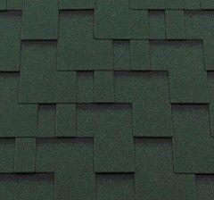 Гибкая черепица Гибкая черепица RoofShield Премиум Модерн Зеленый с оттенением