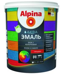 Эмаль Эмаль Alpina Аква колеруемая База 1 шелковисто-матовая (0.9 л)
