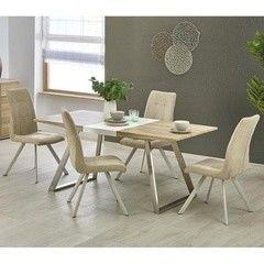 Обеденный стол Обеденный стол Halmar Trevor (белый/ дуб сонома)