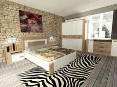 Спальня MySTAR Вирджиния (дуб бонифаций/белый)