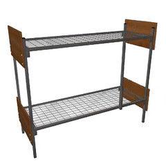 Двухъярусная кровать Европротект 2ДКП-3 металлическая со спинками из ЛДСП (80x190см)